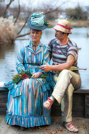 Sailing the Seine Seward Johnson This work is inspired by Edouard Manet's painting, 'Argenteuil' (1874).