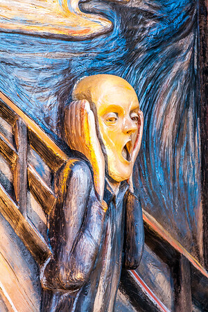 The Chamber of Internal Dialogue Seward Johnson Edvard Munch's 'The Scream' and the second suggested by Johnson's homage to Odilon Redon's 'Silencio'. The fierce intensity of 'The Scream' offers direct contrast to its counterpart the