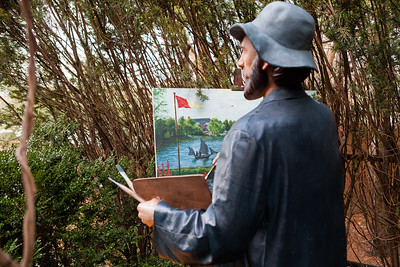 Copyright Violation!  Seward Johnson based on the Claude Monet painting, 'Terrace Ste Adresse'