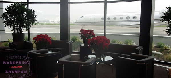 Not a bad way to wait for your flight. And not a bad ride, either.