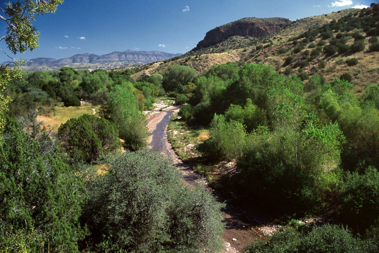Bear Creek to the south of the casitas.