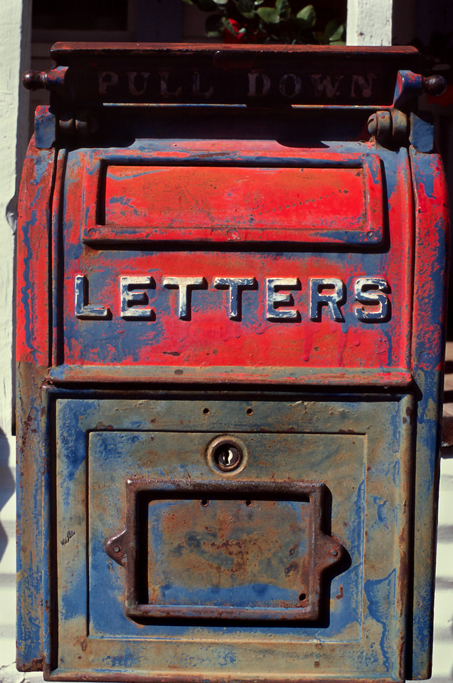 Mailbox, Mogollon, New Mexico.