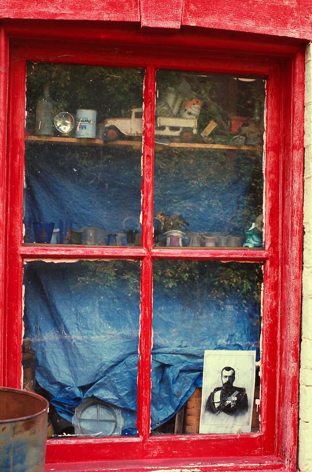 Store window, Mogollon, New Mexico
