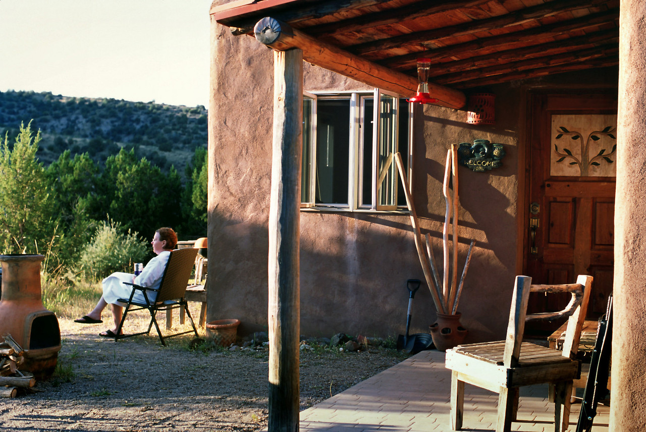 From the back of the casita there is a great view of Bear Creek - and beyond.