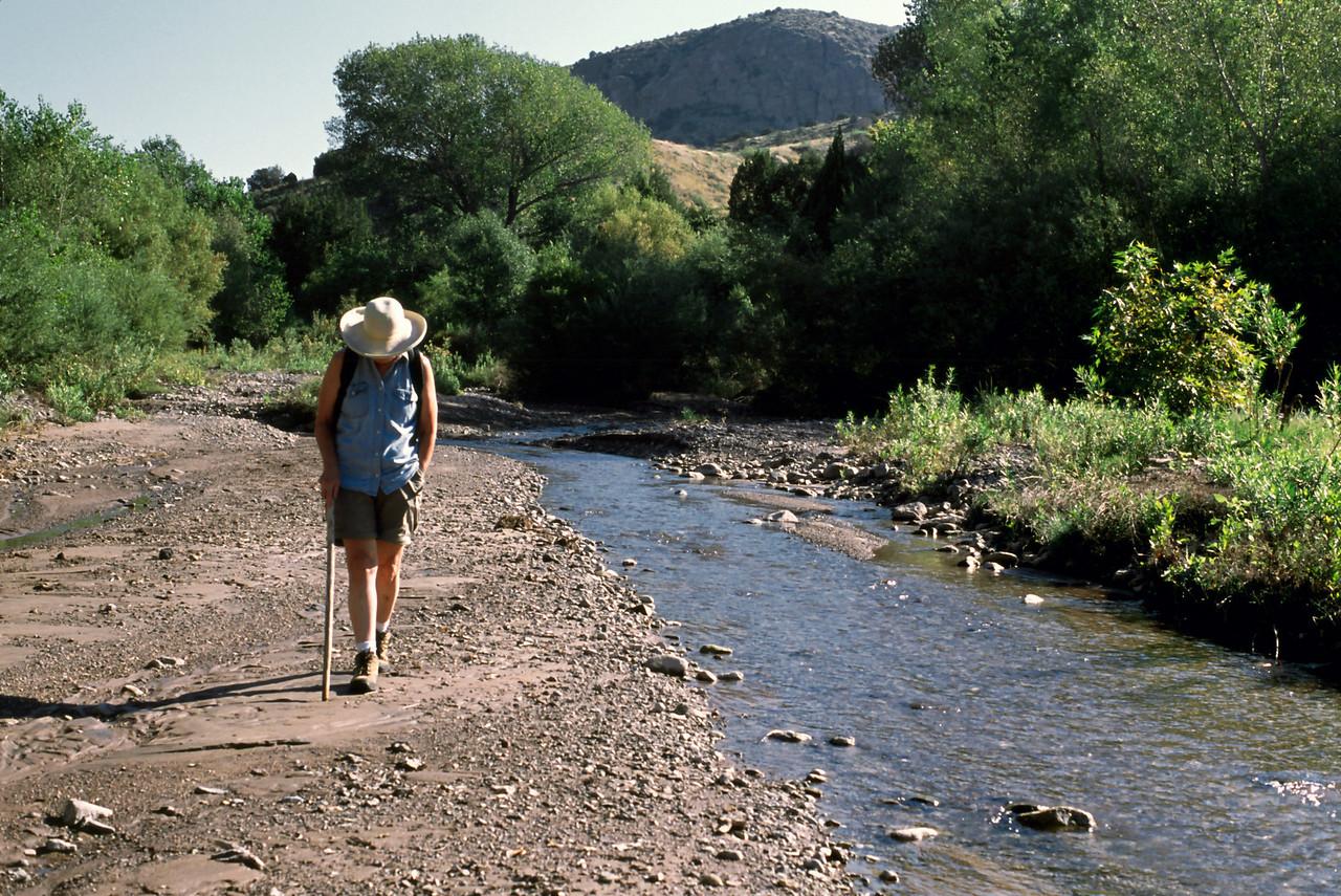 Rita, on the banks of Bear Creek.