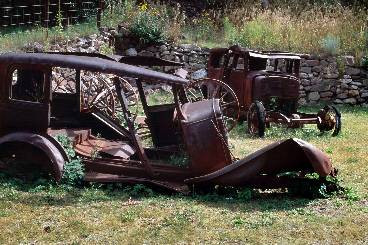 Junk cars, Mogollon, New Mexico - a semi-ghost town near Glenwood.