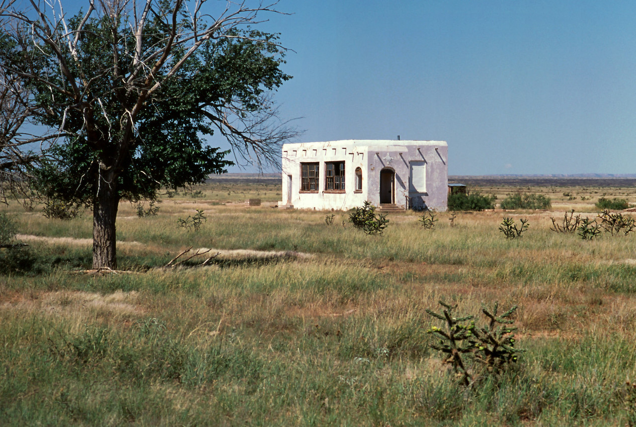 Abandoned adobe cabin, eastern New Mexico.