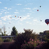 The Albuquerque Balloon Fiesta (world's largest gathering of balloonists) was in full swing. Most mornings, the sky at my parent's house was full of balloons.