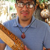 Guiro maker (carved squash)  Santa Fe market