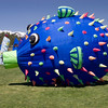 Another shot of the blow fish kite.