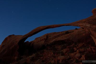 30 second exposure pre-sunrise at landscape arch