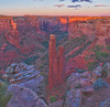 Spider Rock turns red at sunset.