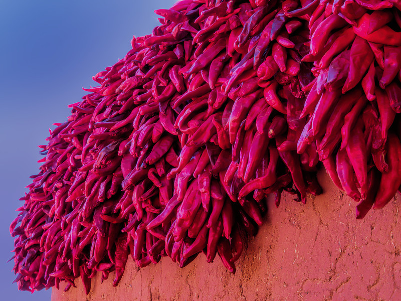 Chili peppers as wall decoration