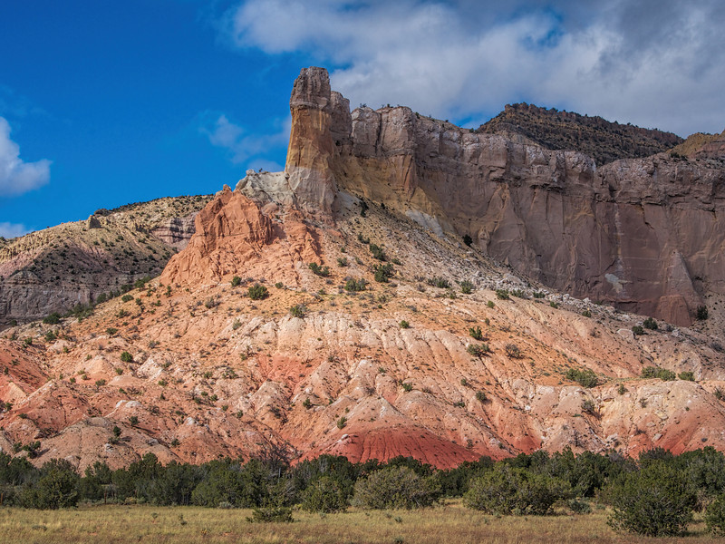 View of Chimney Rock from O'Keefe studio, Ghost Ranch, NM