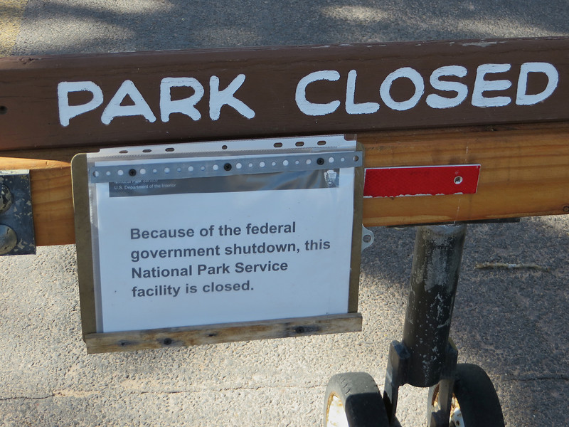 We were shut out of at least 12 National Parks and were forced to dramatically alter our itinerary.  We discovered many local and state parks that proved to be wonderful substitutes.