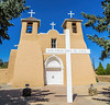 One of many beautiful adobe churches in New Mexico.  This one is in Taos.