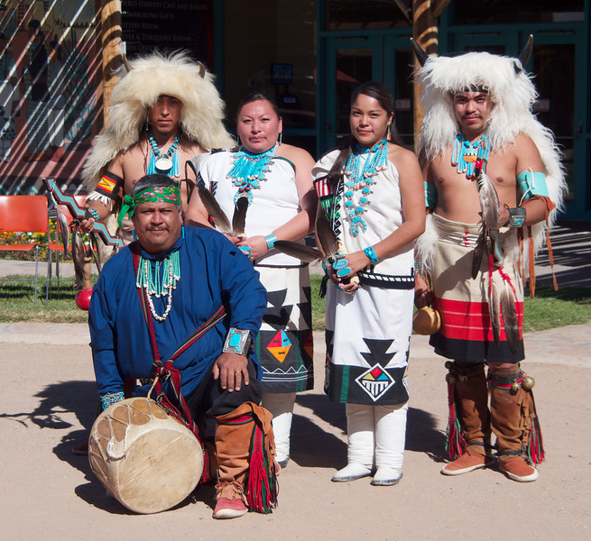 Performers at the Indian Pueblo Cultural Center in Albuquerque.