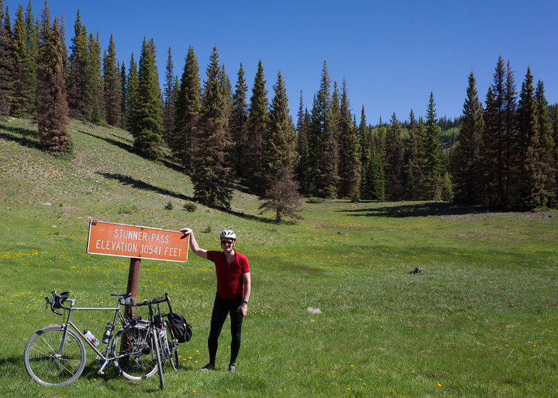 We climbed two gravel passes today, this was the first.