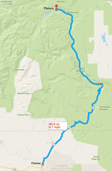 The next day we rode to Platoro, Colorado.