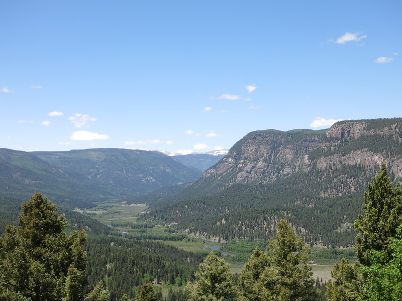 We had a long descent from La Manga Summit to the Conejos River valley.