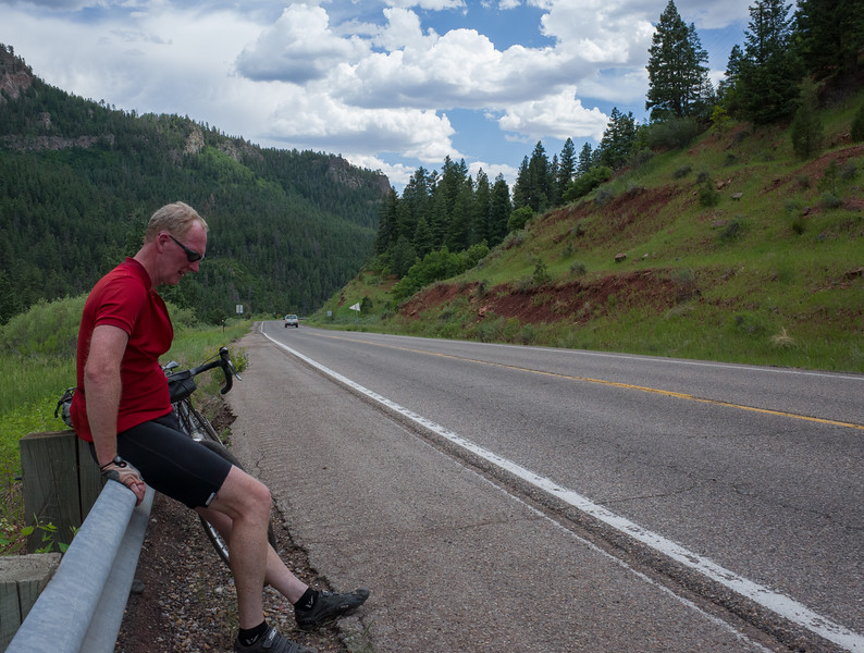 The day was mostly flat, but it was hot and the last few miles were steeply uphill.