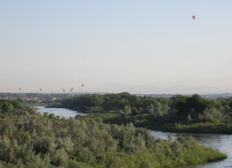 There were balloons over the Rio Grande River.