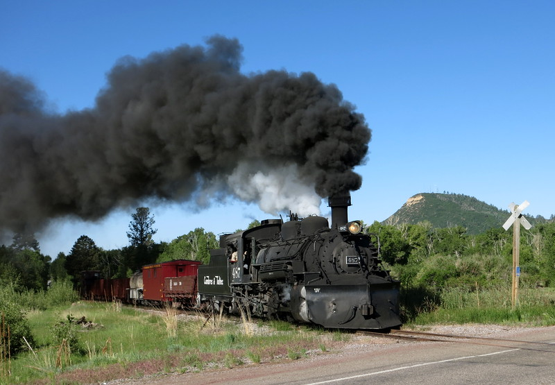 Just after leaving Chama, we saw the Toltec and Cumbres tourist train cross the highway. I'm glad real trains don't burn coal anymore!