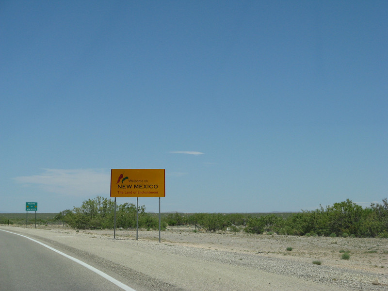 Just outside El Paso-- Welcome to New Mexico