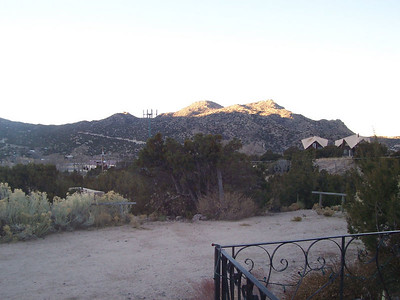The morning view, looking south from the porch of our rental house in Tijeras, NM.