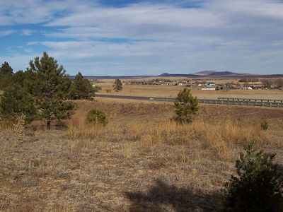 A view from a five-acre property also in Buena Vista but on the west side of the highway. It was too noisy and had to share a driveway with two more properties behind this one which was nearest the road.