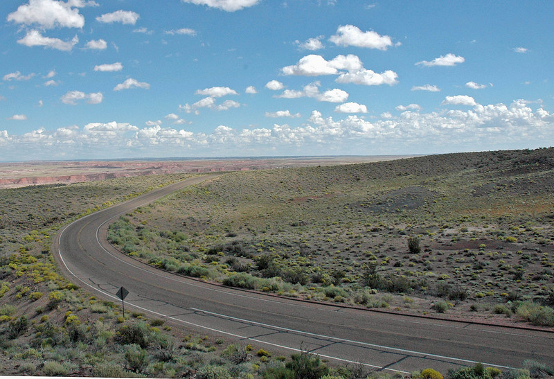 Road to Albequerque from Painted Desert