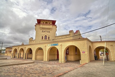The Southwest Chief:  A funky train station in Raton, New Mexico
