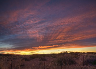 Sunrise over Bosque del Apache Wildlife Refuge, NM
