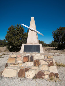 Memorial in Queen, NM to Frank Kindel, the flying paper boy of the Guadalupes.