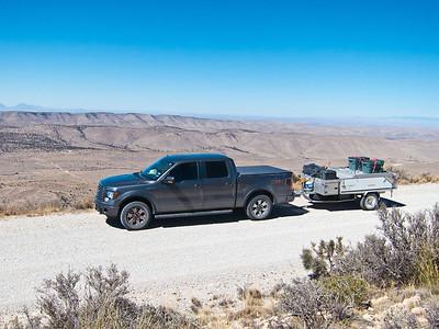 Truck and Kamparoo on Guadalupe Ridge Road