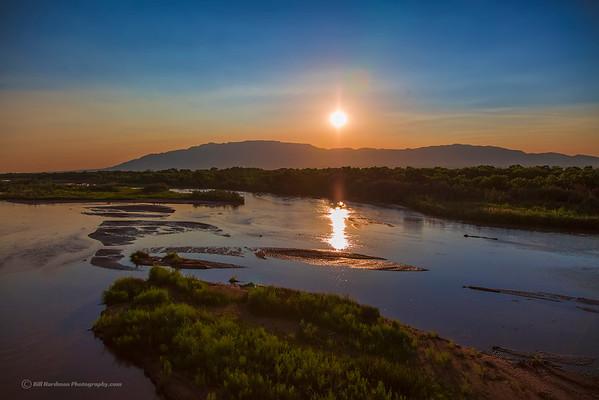 Sunrise over the Sandia Mountains