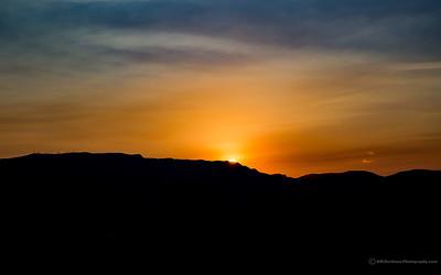 Sunrise over the Sandia's