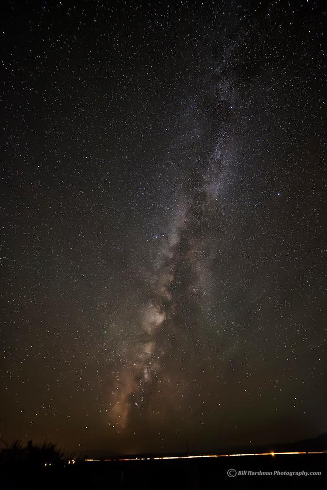 Milky Way over the highway