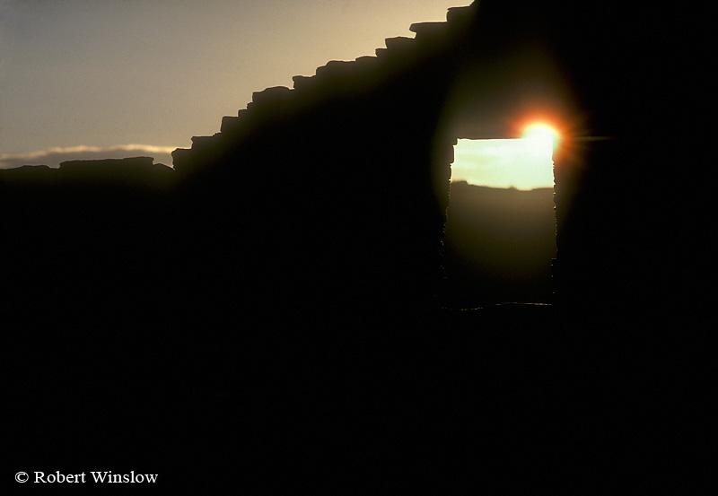 Sunset, Pueblo Bonito Ruin, Chaco Canyon National Historic Park, New Mexico