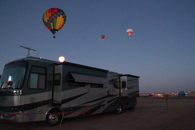 "catching the ""dawn patrol"" from the luxury of the Chases' motor home."