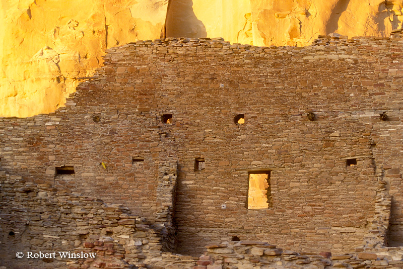 Sunset on Pueblo Bonito Ruin, Chaco Canyon National Historic Park, New Mexico