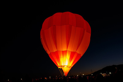 Pre-dawn heating of a balloon at the International  Fiesta at Albuquerque, New Mexico.