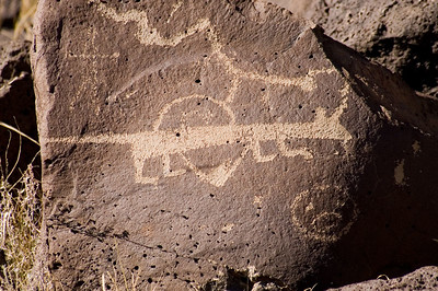 Petroglyph National Monument contains one of the most impressive collections of Indian and Hispanic rock art in the world. It contains more than 100 archeological sites, a variety of volcanic features and a number of wildlife habitats. Rinconada Canyon