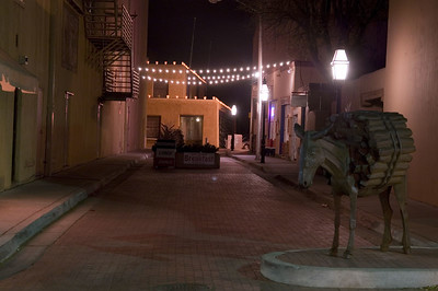 Santa Fe Burro Alley is a quaint street which was lined with saloons and gambling parlors in the late 1800s.It was named for the burros that carried firewood to be sold there.