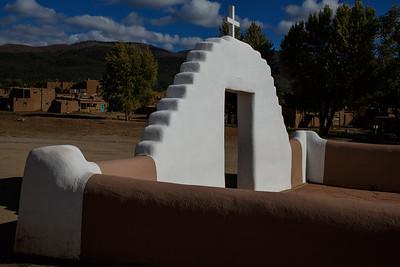 Entrance to the Second San Geronimo church - c. 1850.