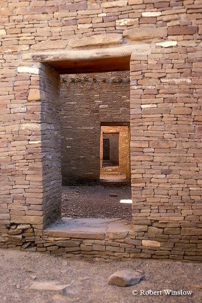 Doorways, Pueblo Bonito Ruin, Chaco Canyon National Historic Park, New Mexico