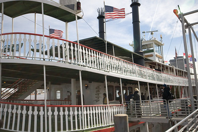 Boarding  the Steamer Natchez