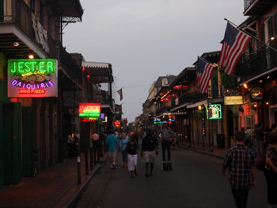 Evening Falls On Bourbon Street