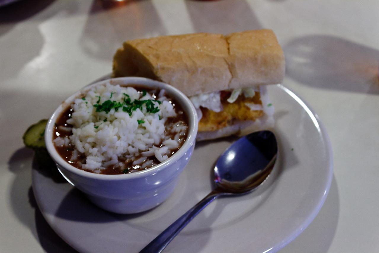 Red Beans & Rice, Catfish Po-Boy
