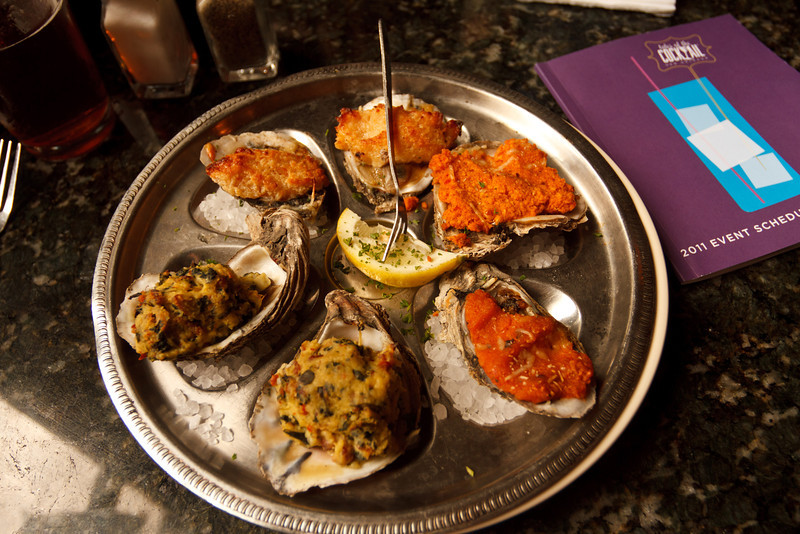Oyster Selection at the Royal House Oyster Bar